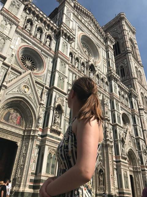 Roseanne Nooren during study abroad in Italy