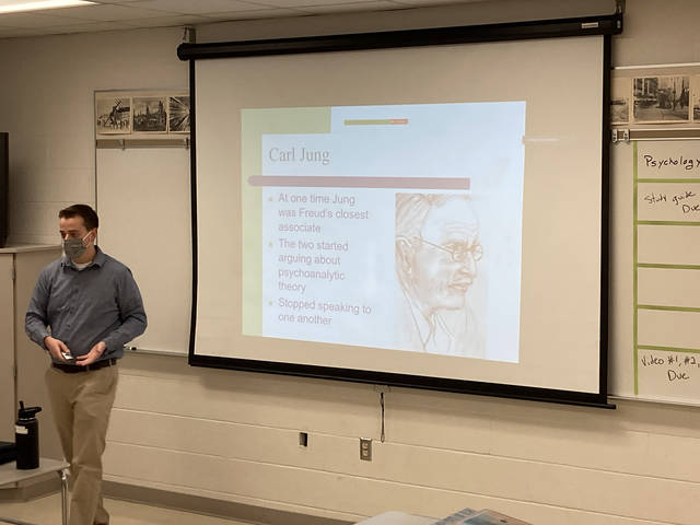 Cade Lambrecht taught social studies to middle and high school students this fall for his semester of student teaching. The COVID-19 pandemic and political unrest around the presidential election provided unexpected challenges.