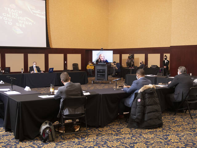 Members of the Education and Economic Development subcommittee of the Wisconsin Speaker's Task Force on Racial Disparities took part in a hearing on Monday, Jan. 25.