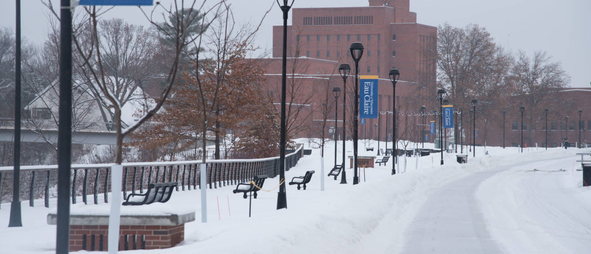 Lower campus in winter