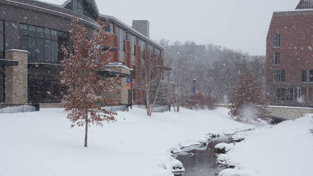 Davies Center in winter