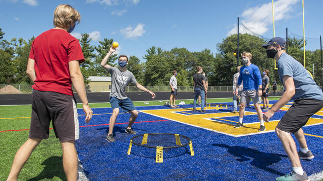 Eau Claire Students Playing Spike Ball