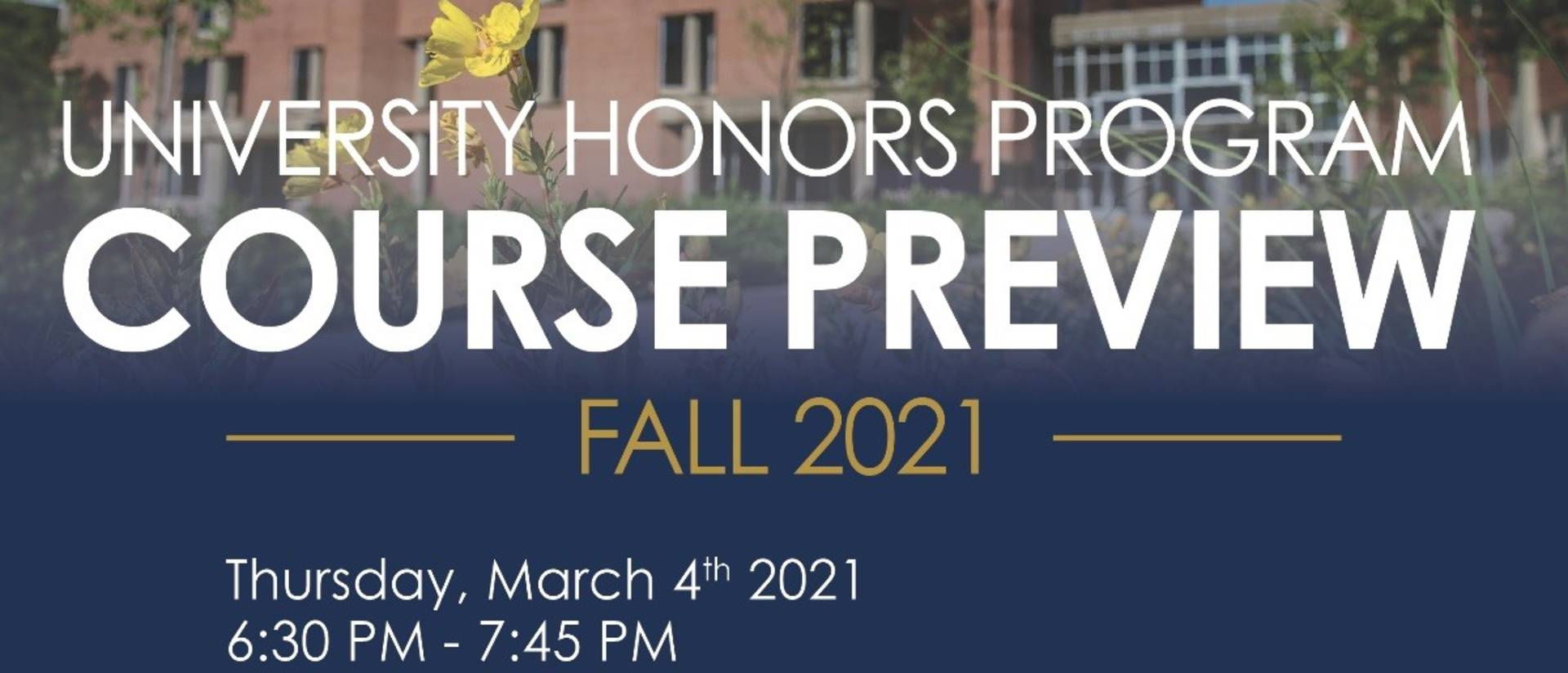 Fall 2021 Honors Course Preview Poster
