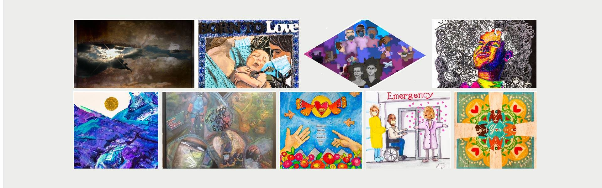 Collage images of Healing Reflections gallery