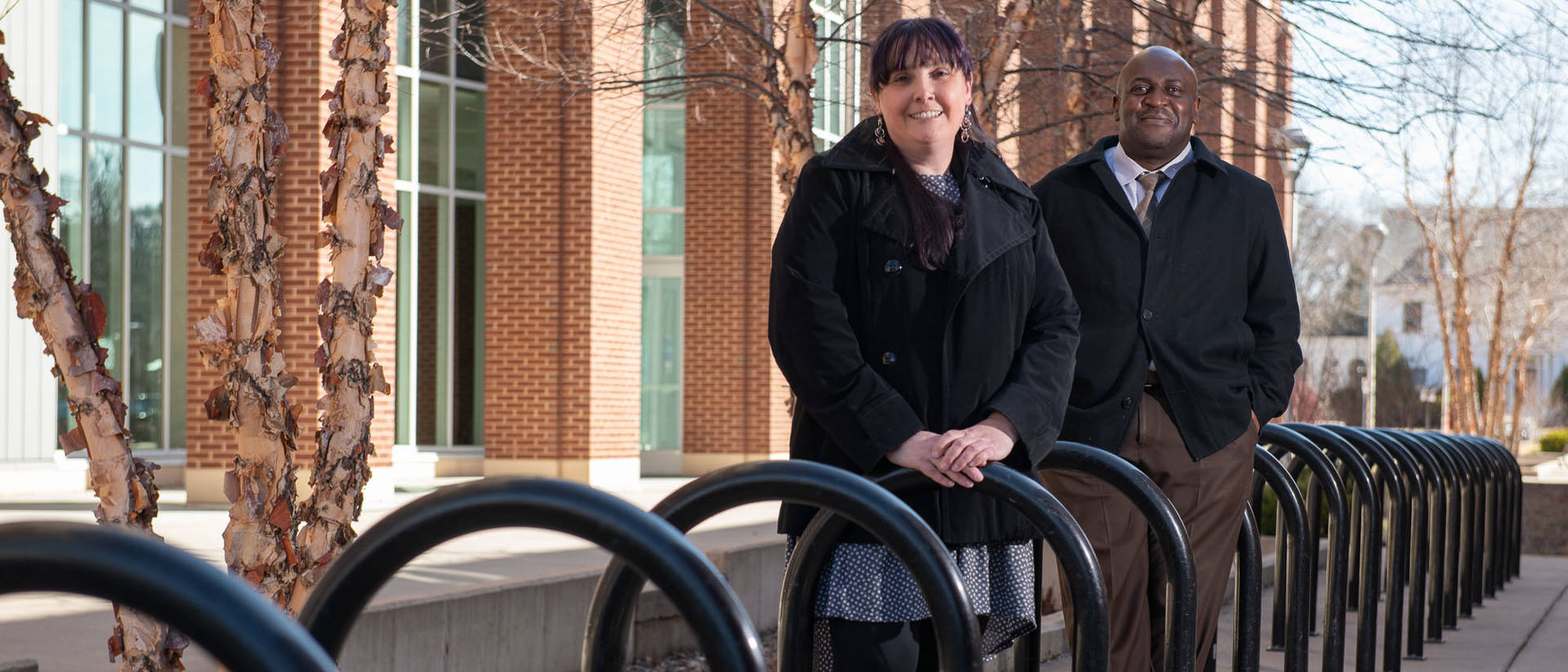 Dr. Heather Ann Moody, associate professor of American Indian studies, and Dr. Roderick Jones, assistant professor of special education and inclusive practices, are co-chairs of the Center for Racial and Restorative Justice's implementation team.