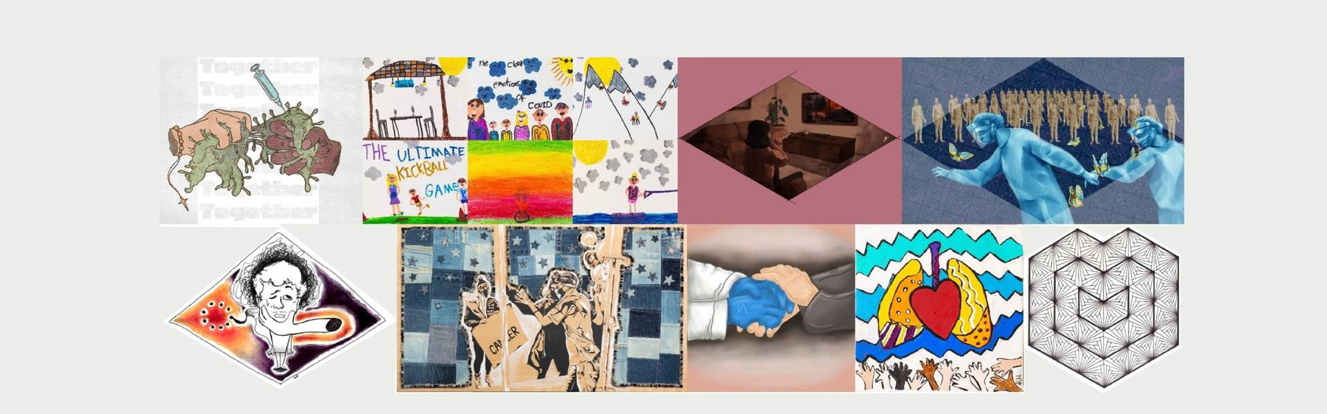 A collage of images that are a part of the following collection