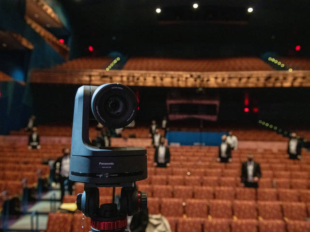 Streaming camera at Pablo Center RCU theater