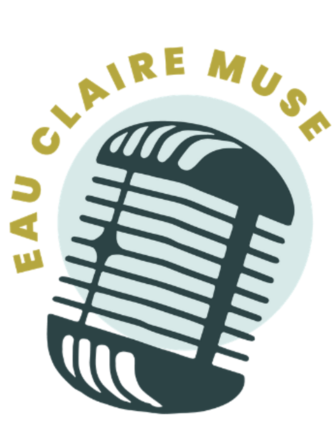 Logo for the Eau Claire Muse featuring a microphone.