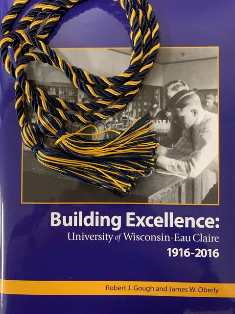 Blugold Spirit Cords and Building Excellence history book