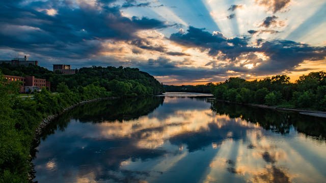 sunset over river2