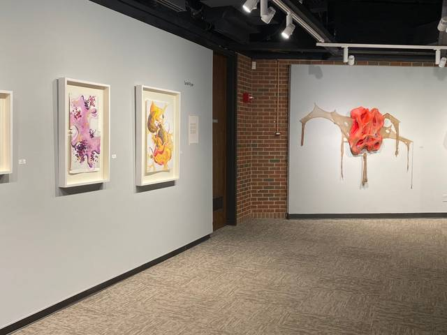 Installation view of the artwork in the BFA exhibition in the foster gallery