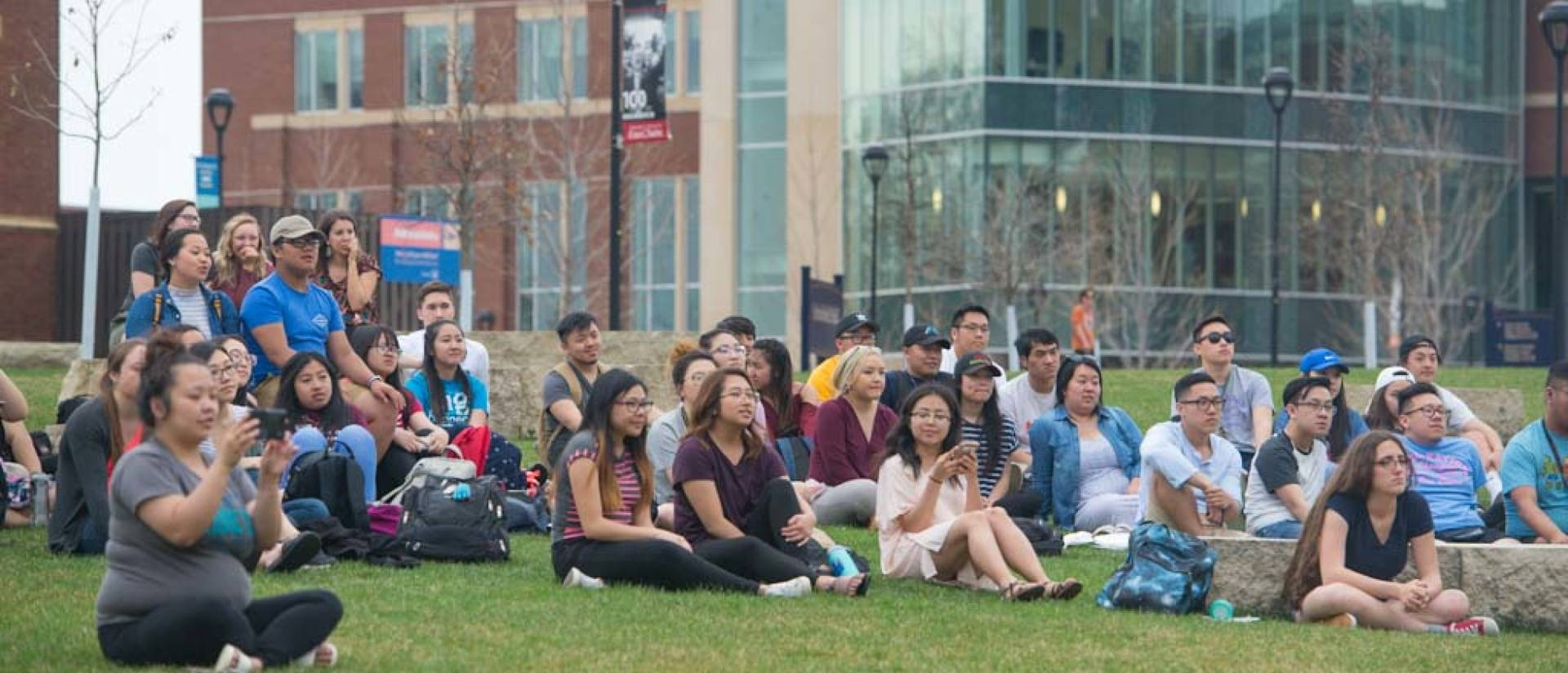 At the 2018 Asian Pacific Islander American Heritage Month celebration, groups of students and community members gathered to enjoy music, dancing and martial arts demonstrations on the campus mall.