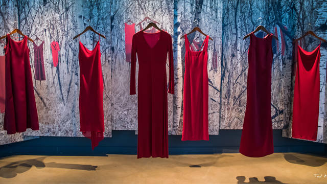 REDress Project image (Photo by Ted McGrath; REDress Project, Canadian Museum of Human Rights.)