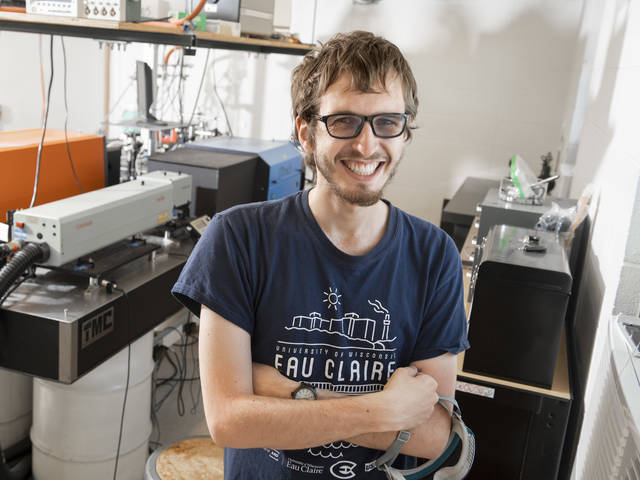 As a Blugold, Sean Parsons discovered he has a talent for and a love of teaching chemistry to college students. After he graduates this month, he will begin a Ph.D. program in chemistry, a step toward what he hopes will be a career in higher education.