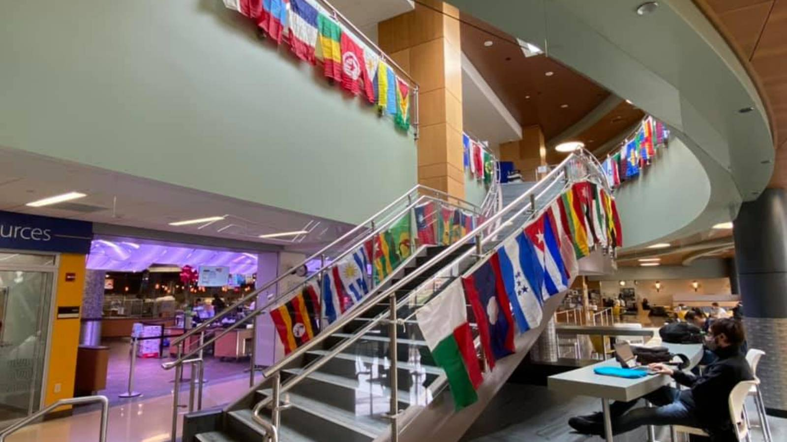Flags in Davies Student Center