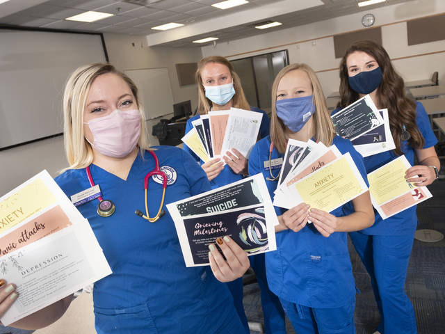 A project launched this spring by a team of UW-Eau Claire nursing students is helping to get information about mental health disorders and mental health resources into the hands of young people across the state.