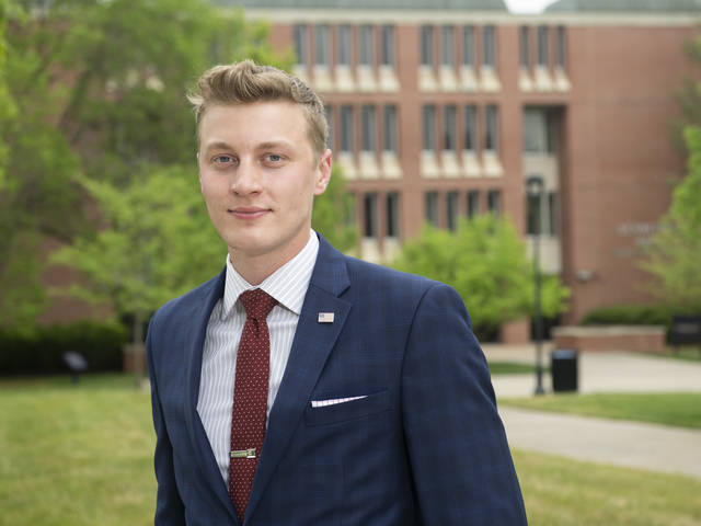 Chad Schultz's May graduation from UW-Eau Claire means he now can be commissioned as an officer in the U.S. Marine Corps.  Since he already graduated from the Marine Corps' Officer Candidate School, he now will go to Virginia for six months of training.
