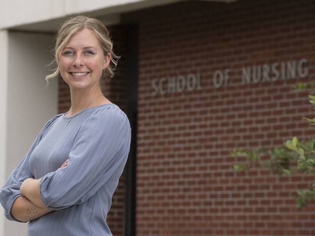 Brelynn Updike is part of a team of UW-Eau Claire nursing students and recent graduates who are raising awareness about the challenges and resources needed to support people as they return to the community after being incarcerated. (Photo by Bill Hoepner