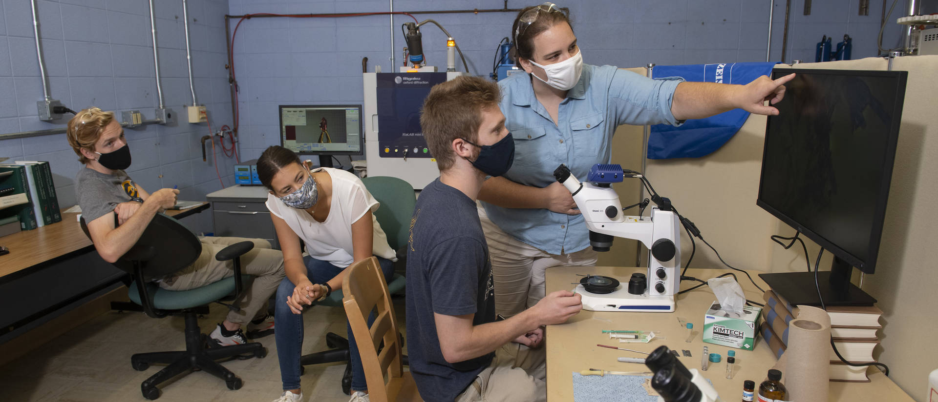 Students working on research this summer with Dr. Deidra Gerlach are using new high-end instrumentation secured through a grant from the National Science Foundation.