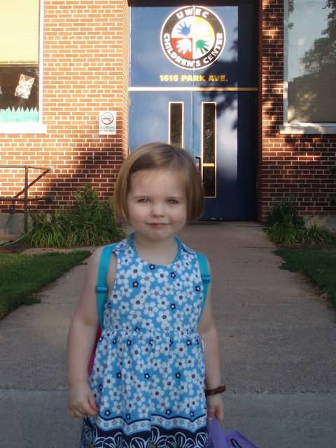 Lucy Franklin started her career as a Blugold when she was 4-year-old preschooler at the Children's Center, which then was located on campus.