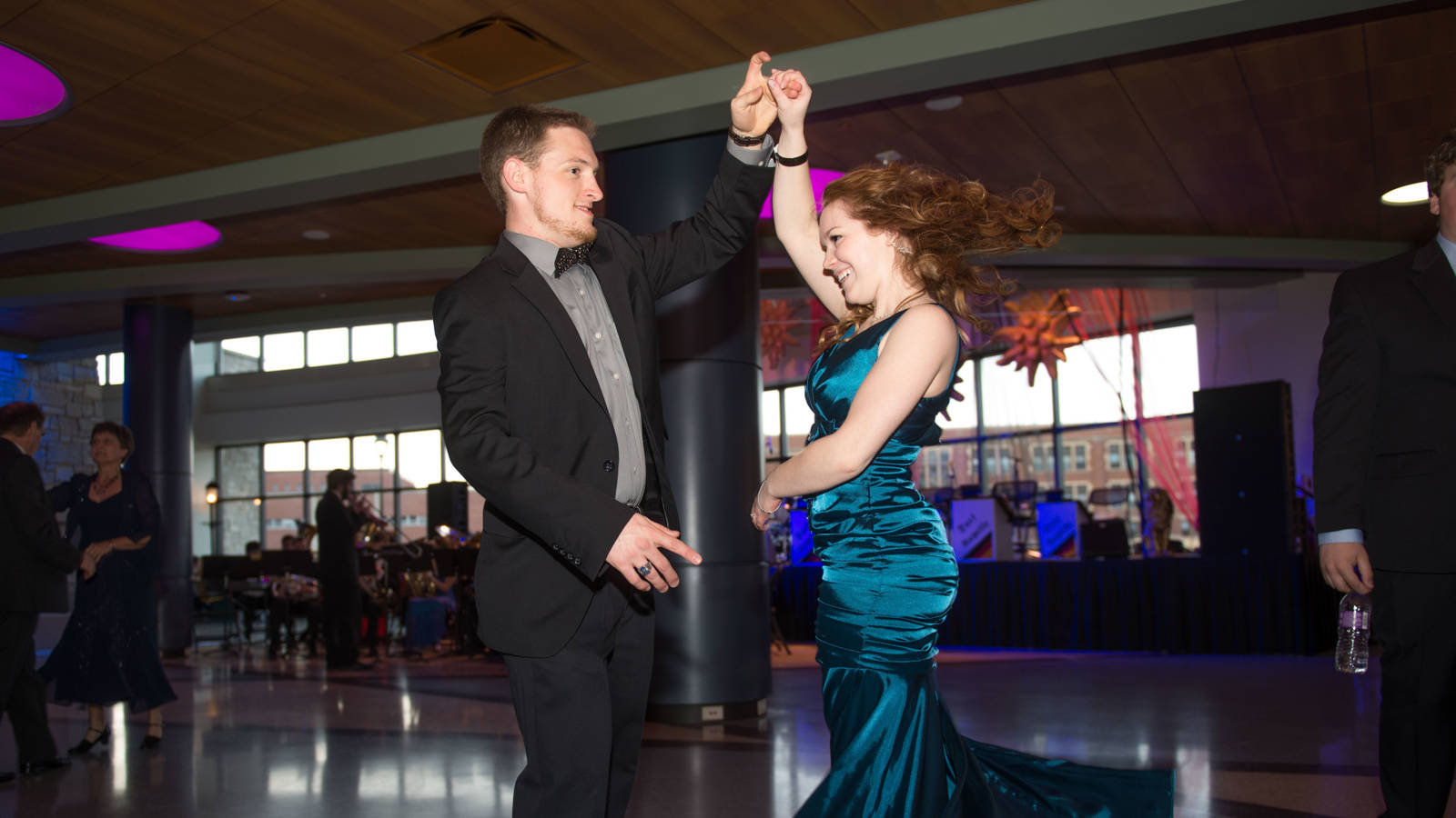 A couple dancing at the Viennese Ball at UW-Eau Claire