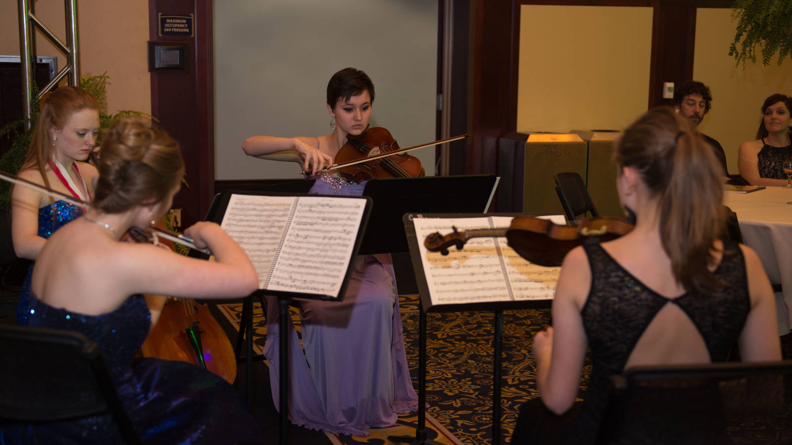 Musical ensemble playing at the Viennese Ball at UW-Eau Claire