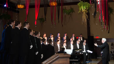 The Singing Statesmen performing at the Viennese Ball at UW-Eau Claire