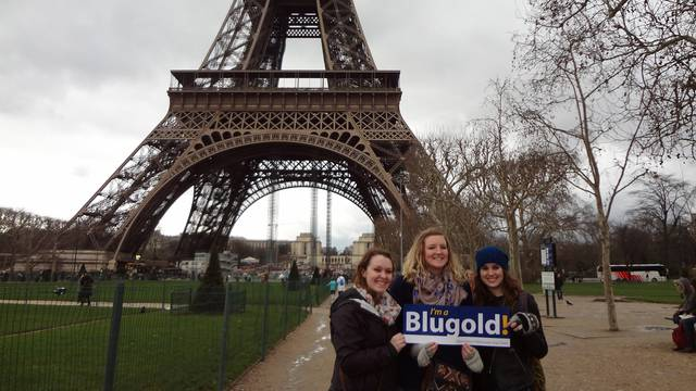 UWEC students studying in France