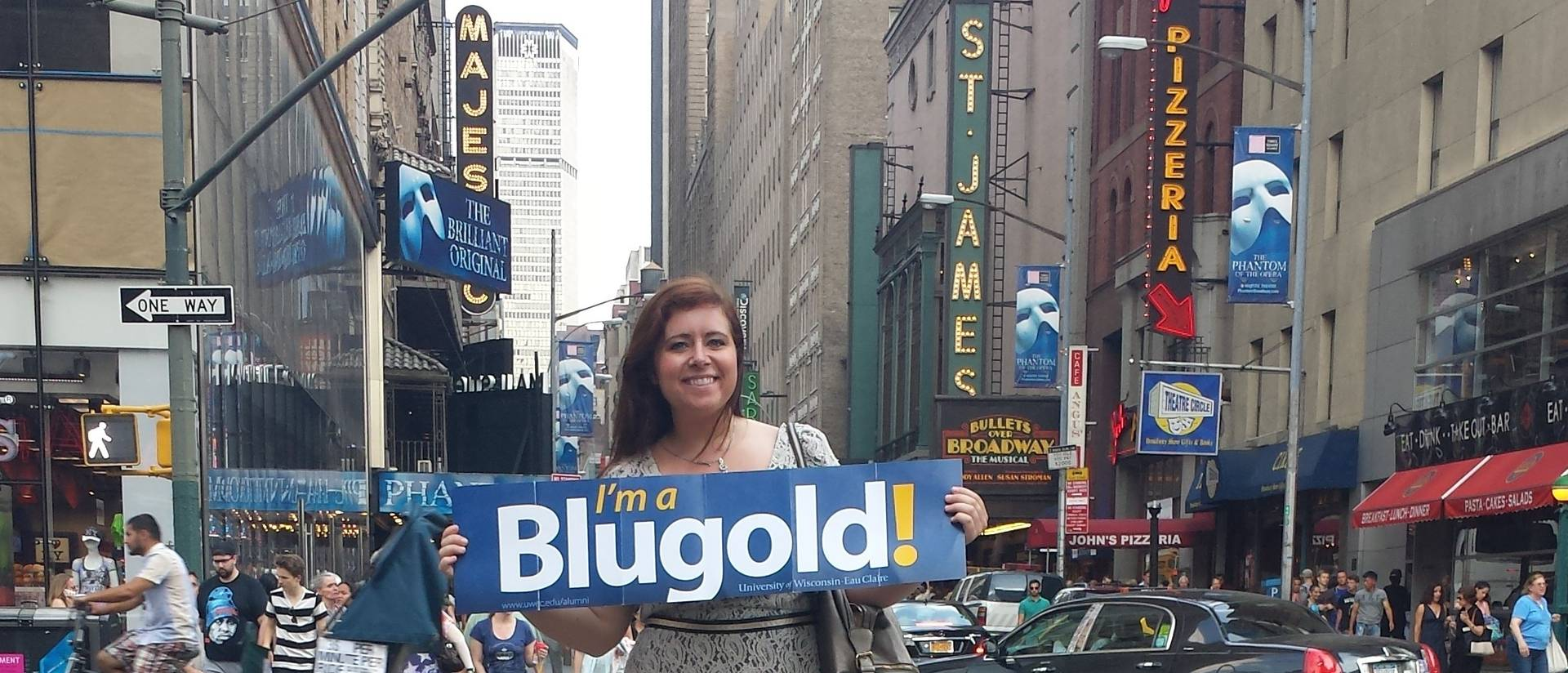Heidi Joosten shows Blugold pride in New York City