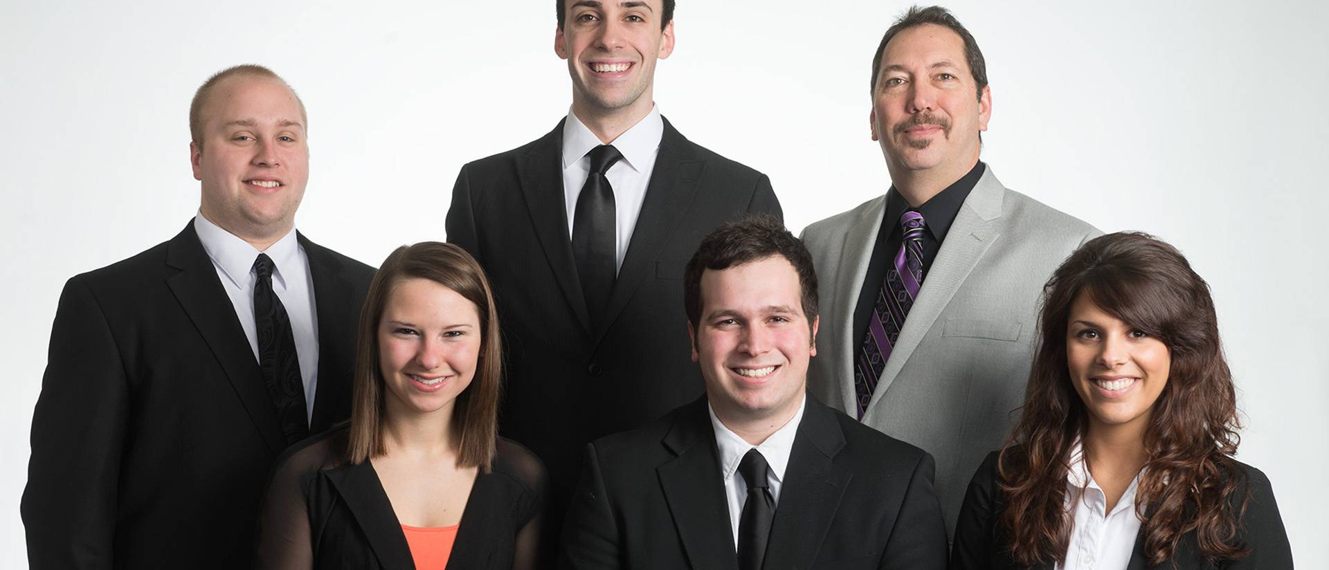 Back row, left to right: Phillip Dickinson, Nathaniel Guralski, Dr. Scott Swanson. Front row, left to right: Katherine Hammel, Michael Boucher, Megan Lipari.
