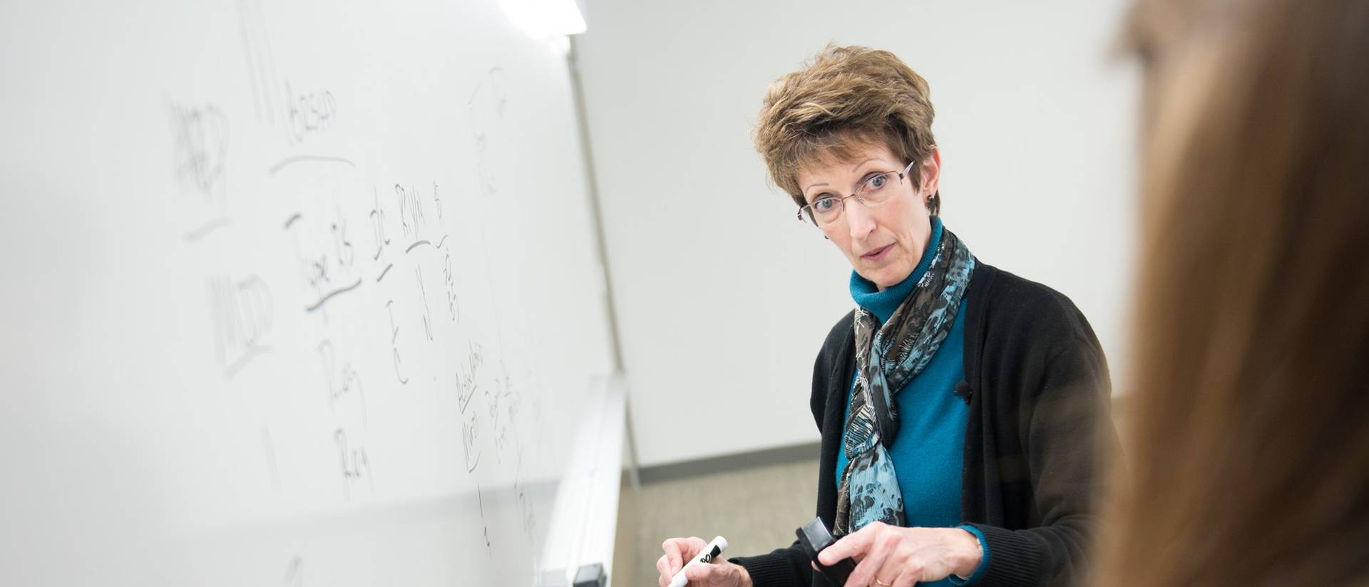 UWEC's Dr. Jean Pratt teaching