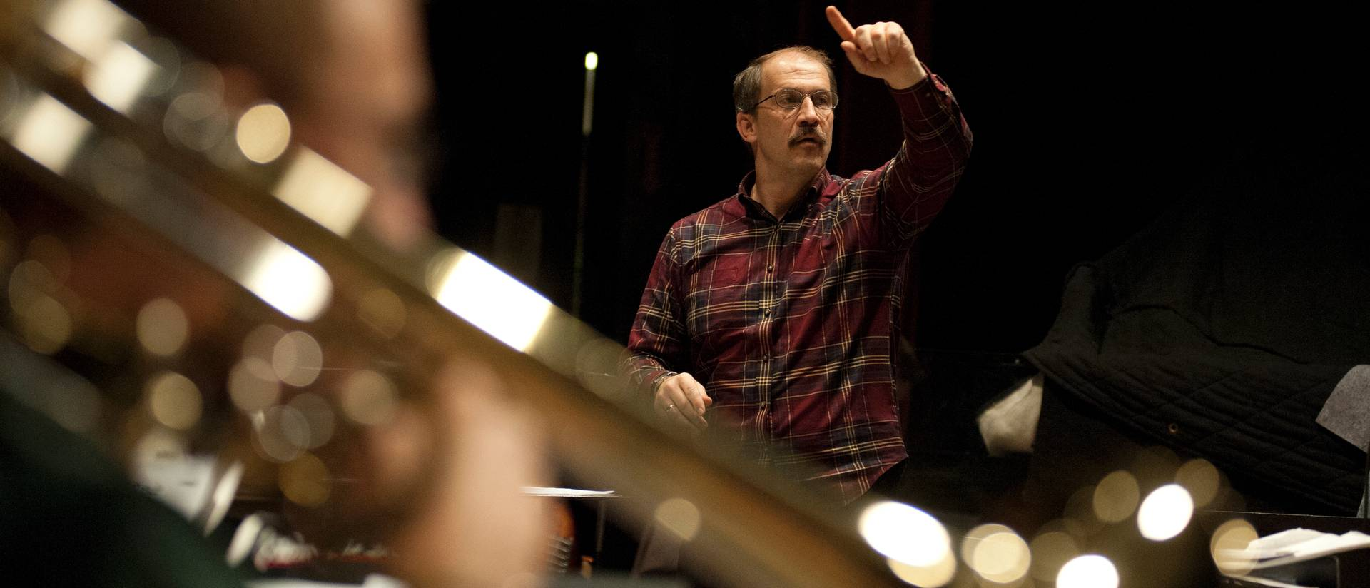 Professor Robert Baca, UW-Eau Claire director of jazz studies, was selected to conduct the National Association for Music Education 2014 All-National Honor Jazz Band.