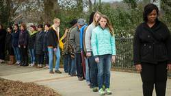Students attend mock slavery reenactment in Selma, Alabama