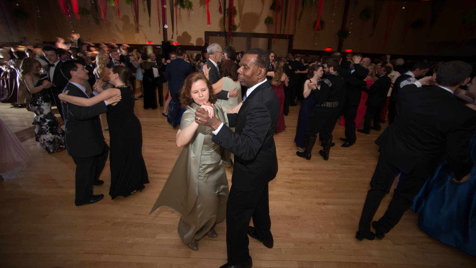 Couples on the dance floor at the Viennese Ball at UW-Eau Claire
