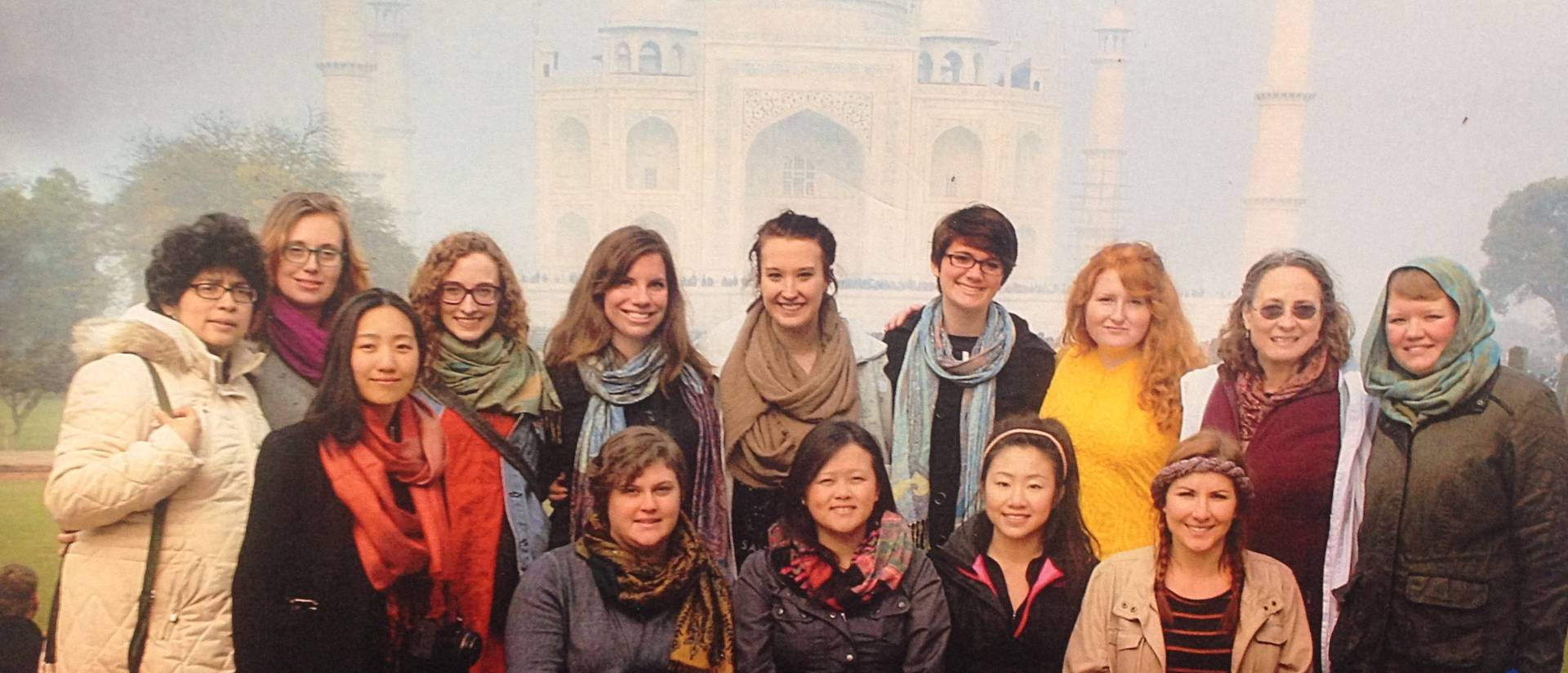 UW-Eau Claire students on India immersion trip