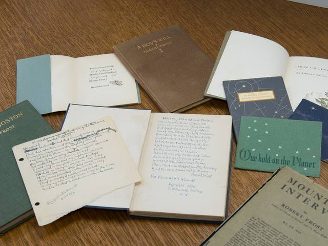 Sampling of books from UW-Eau Claire's Frost Collection