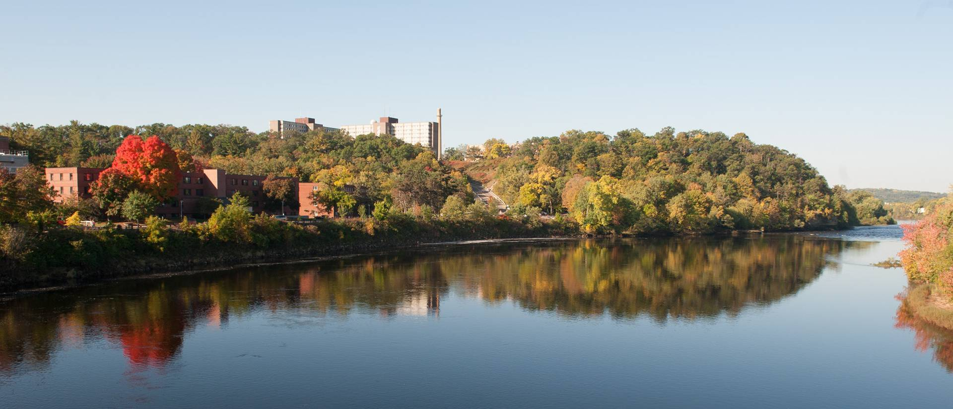 UW-Eau Claire campus and Chippewa River
