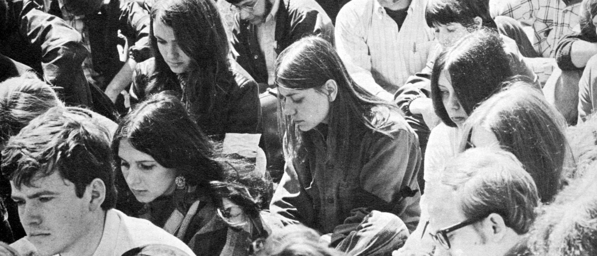 Peaceful peaceful student strike Wisconsin State University-Eau Claire in May1970