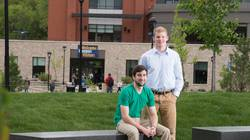 Recent UW-Eau Claire biology graduates Jared Metropulos, left, and Brandon Stradel have been accepted to the inaugural class of the Medical College of Wisconsin-Green Bay.
