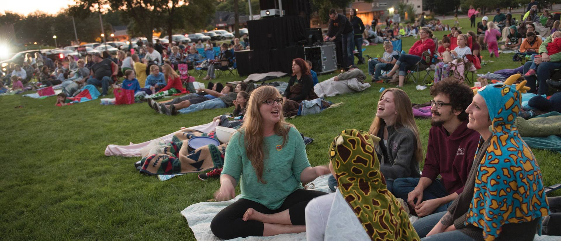 Community enjoying Summer Cinema