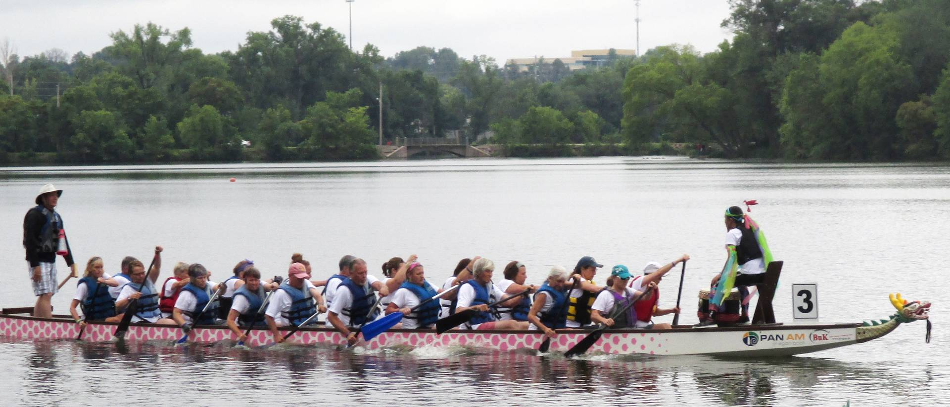 Dragon boat on Half Moon Lake in Eau Claire, WI