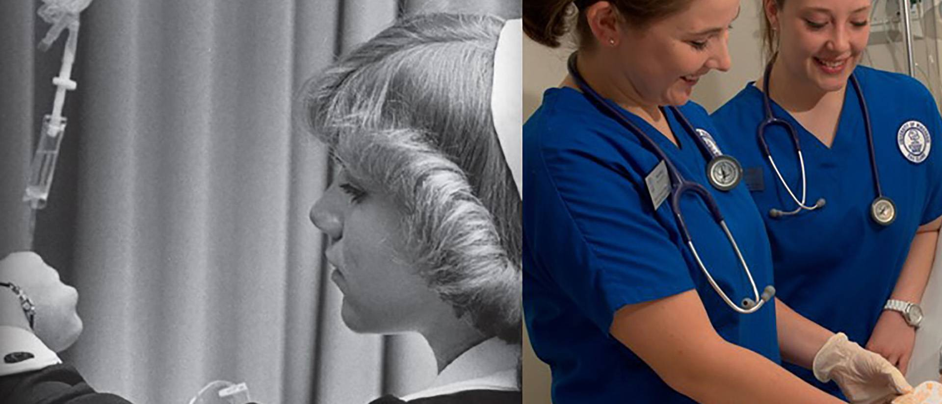 Nursing students then and now