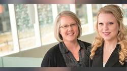 Kelsey Stuttgen, right, with mentor  Julie Anderson, director of the Health Careers Center at UW-Eau Claire.
