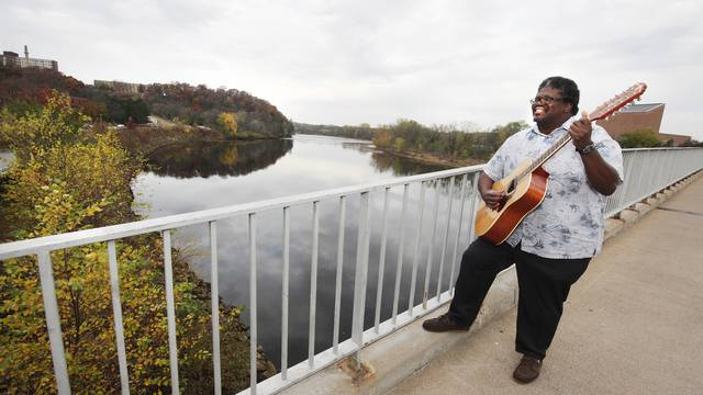 David Jones on UW-Eau Claire footbridge