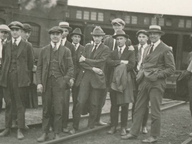 A group of students on a geography field trip in the early 1920s