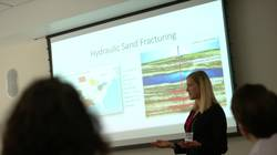 UWEC student presenting at Provost's Honors Symposium