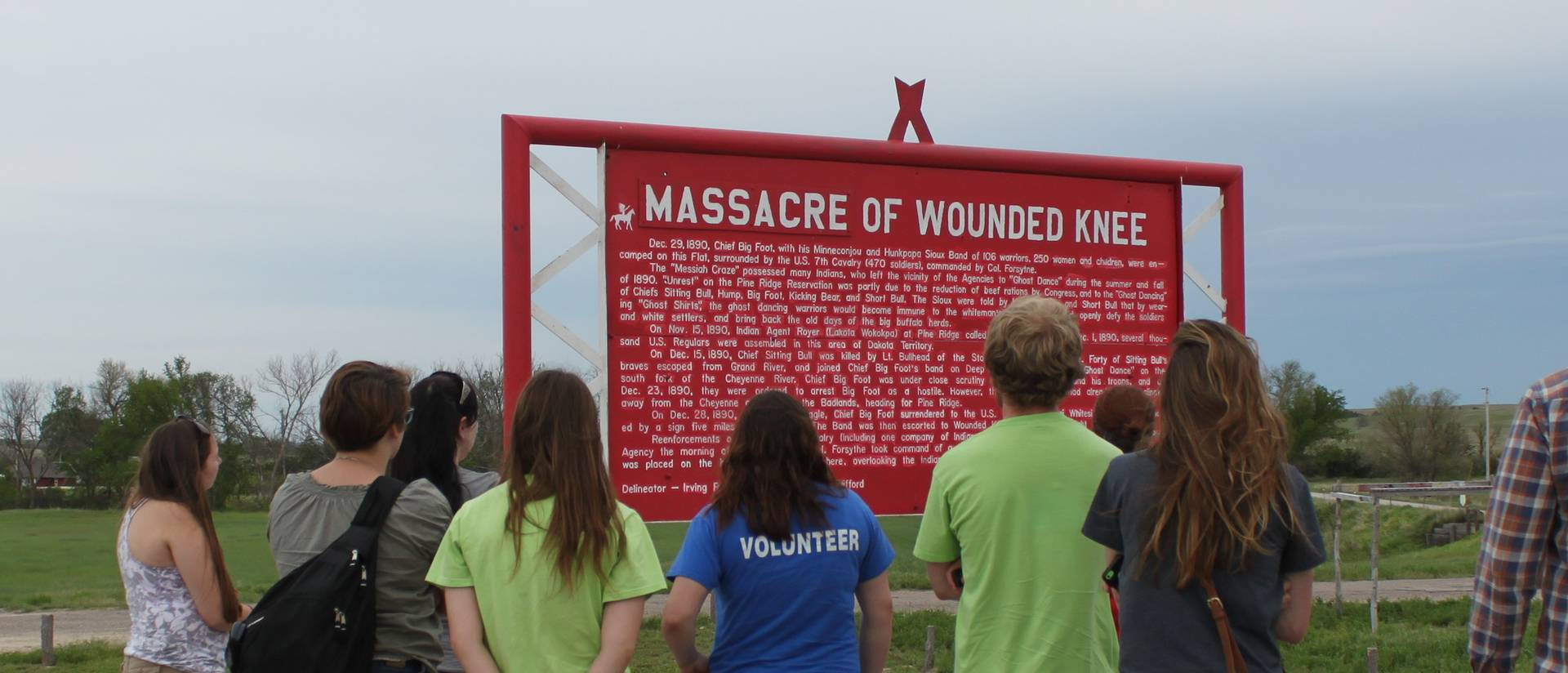 Pine Ridge Reservation immersion trip--Wounded Knee Memorial