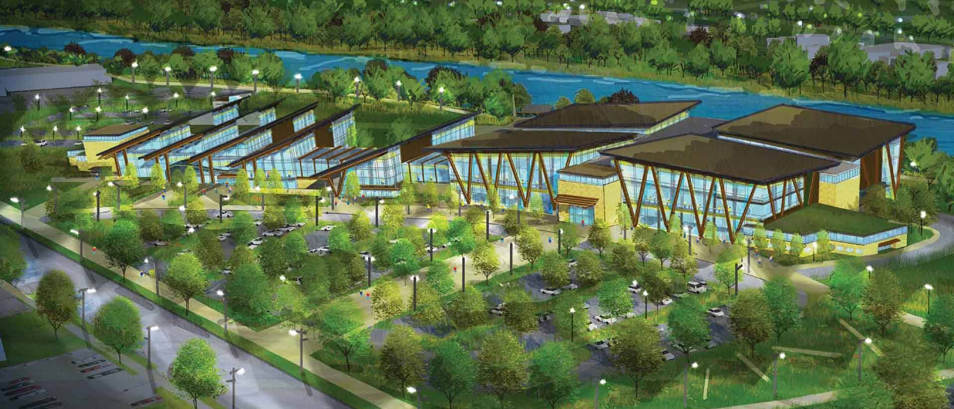 Preliminary design concept for Sonnentag Event and Recreation Complex