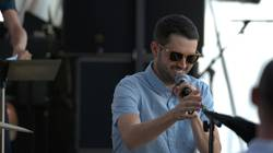 Sean Carey perfomring with Jazz I at Eaux Claires Festival
