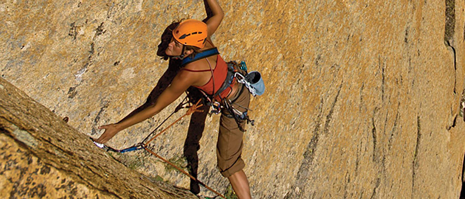 Rock-climbing alumna scales new heights